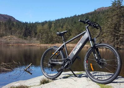 Avatar electric bike by a lake