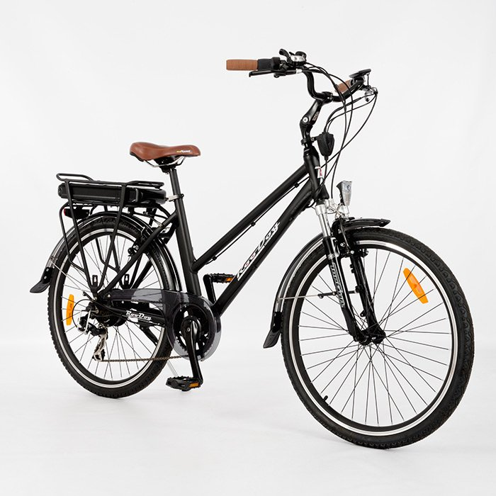 Mayfair unisex electric bike from RooDog, mid step through