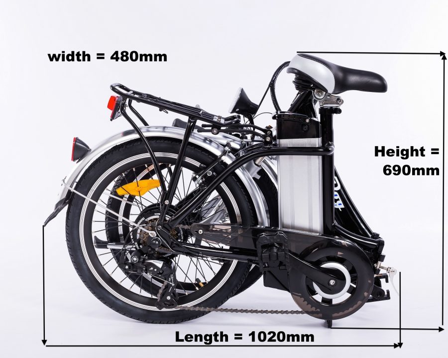 bliss electric bike folded dimensions