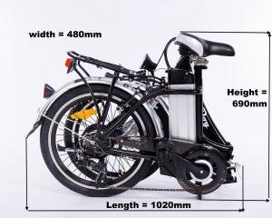 bliss electric bike folded dimensions
