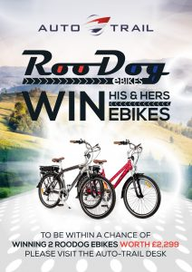 win his and hers eBikes with RooDog and Auto-Trail