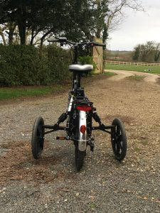 back - RooDog bliss electric bike with adult stabilisers