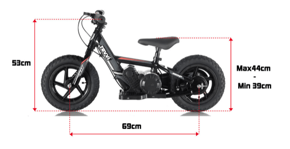 kids electric bike size